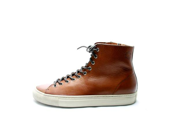 【SALE 20%OFF】【送料無料】<Made In Italy>BUTTERO TNINO ブッテロ ハイカットレザースニーカー Brown