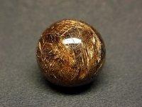 濃密★【ブラウンゴールドルチル】金針水晶球★19mm:G-28855