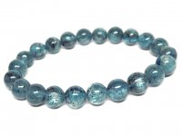 g400円★【ウォーターブルーカイヤナイト】藍晶石ブレスレットM★8.5mm:KY-44802