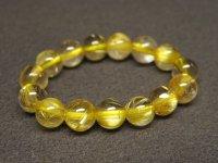 ★黄金【タイチンルチル】水晶ビーズ指輪★20号:GT-75766