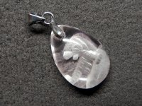 ★【虎】【クリスタル】水晶彫刻★天然石ペンダント:DG-13946