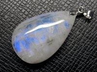 ★【ブルームーンストーン】月長石★天然石ペンダント:MO-49466