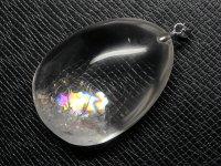★【レインボークリスタル】虹入り水晶★天然石ペンダント:C-53913