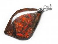 ★【アンモライト】化石★天然石ペンダント:AL-70838