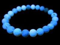 最高級レア品g1500円★【ブルーアンバー】青琥珀☆天然石ブレスレットM★8mm:KO-88555
