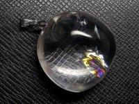 ★【レインボークリスタル】虹入り水晶★天然石ペンダント:C-94502