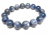 g200円★【カイヤナイト】藍晶石☆天然石ブレスレットM★12.5mm:KY-14378