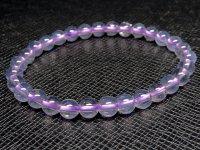レア品g1700円★【スコロライト】紫水晶☆天然石ブレスレットM★6mm:SCO-16737