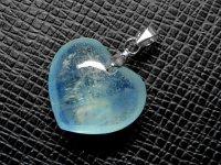 ハート★【アクアマリン】藍玉★天然石ペンダント:AQ-42153