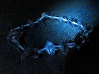 超レア品g400円★双尖【オイル・イン・クォーツ】★天然石水晶ブレスレットS:C-45810