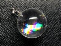 ★【レインボークリスタル】虹入り丸玉水晶★天然石ペンダント:C-45716