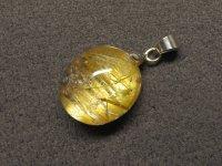 高品質★黄金【タイチンルチル】水晶★天然石ペンダント:GT-50707