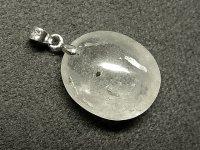 ★【水入り水晶】天然石ペンダント★:W-22940