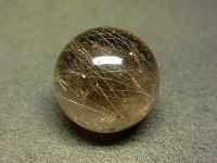 ★【ゴールドルチル】金針茶水晶球★18.5mm:G-22995