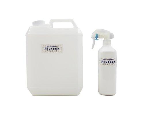 【即納】除菌消臭プリュテック 4L原液(400ppm)500mlスプレーボトルセット