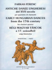 Early Hungarian Dances from the 17th century/17世紀の古いハンガリー舞曲(クラリネット4重奏)
