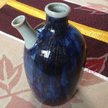 藍流れカラカラ瓶