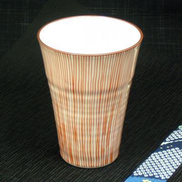 京十草焼酎グラス(赤)