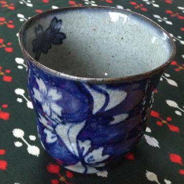 流水桜酎ハイカップ(藍)