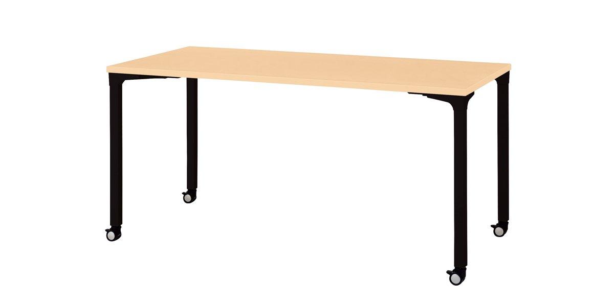 プラス 会議テーブルnn-1507pkr 【4本脚キャスター】【長方形】【幅1500
