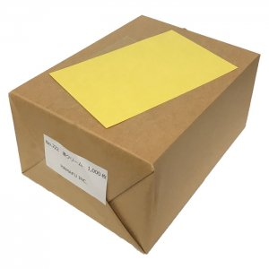 No.222  濃いクリーム色両面無地ハガキアメリカンサイズ(90x140mm) 1000枚 DMやサンクスカードに最適!