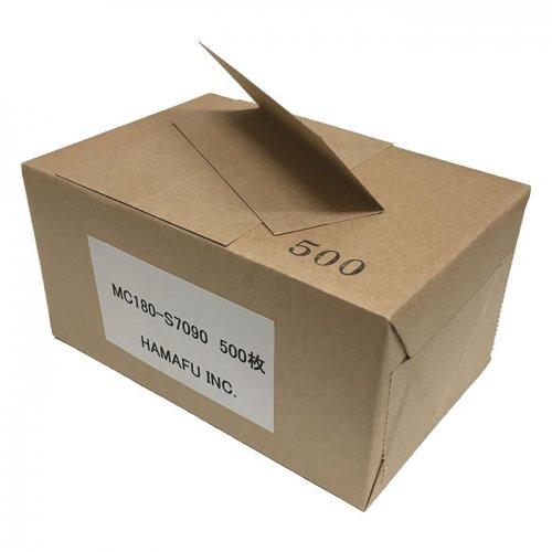 No.MC7090 クラフト紙【厚手】 サンクスカード(二つ折り可) (70mmx90mm) 【500枚】
