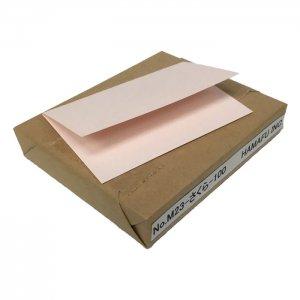 No.M23-100-sakura  さくら色両面無地サンクスカード(非対称・二つ折り可)・ 色上質・最厚口 (91mmx110mm) 【100枚】