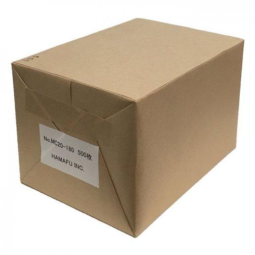 No.MC20-180  往復ハガキ仕様・クラフト紙無地ハガキ厚手 180kg相当 (200x148) 500枚入り しっかりとした厚みで…