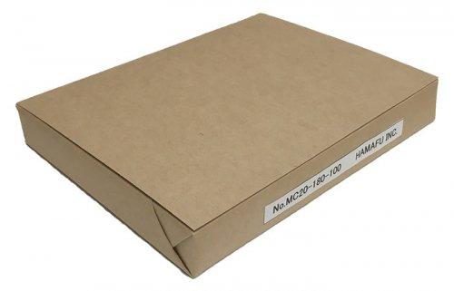 No.MC20-180-100  往復ハガキ仕様・クラフト紙無地ハガキ厚手 180kg相当 (200x148) 100枚入り しっかりとした厚みで…