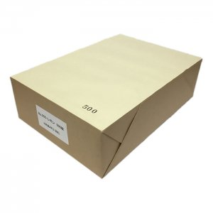 NO.555  色上質 最厚口 【レモン】 A4ミシン目加工紙(4分割) 500枚 DMやサンクスカードに最適