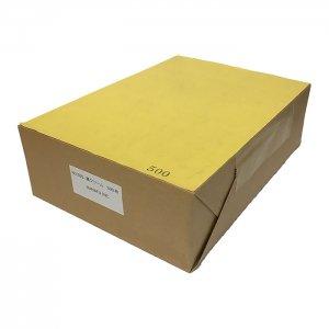 NO.555  色上質 最厚口 【濃いクリーム】 A4ミシン目加工紙(4分割) 500枚 DMやサンクスカードに最適