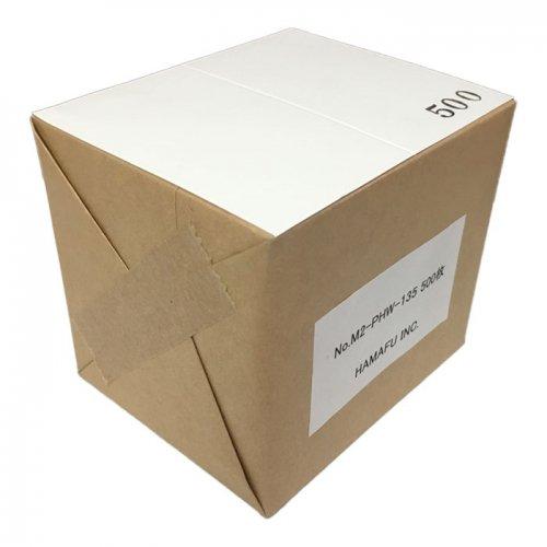 No.M2-PWH135  ラメ調光沢紙両面無地サンクスカード(二つ折り可)・ ペルーラホワイト 130kg (91mmx110mm) 【500…