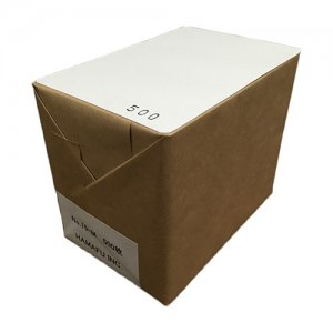 No.15M  白色両面無地ハガキ厚手(100x148)【角丸】  500枚 柔らかで上品な感じを求める場合にオススメです。