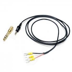 3.5mmステレオプラグケーブル,端子付き(6.3mm変換アダプター付属) マニュピレーターとトランシーバーの接続用