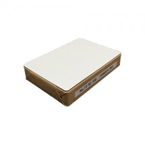 No.15M-100  白色両面無地ハガキ厚手(100x148)【角丸】  ☆100枚 柔らかで上品な感じを求める場合にオススメです。