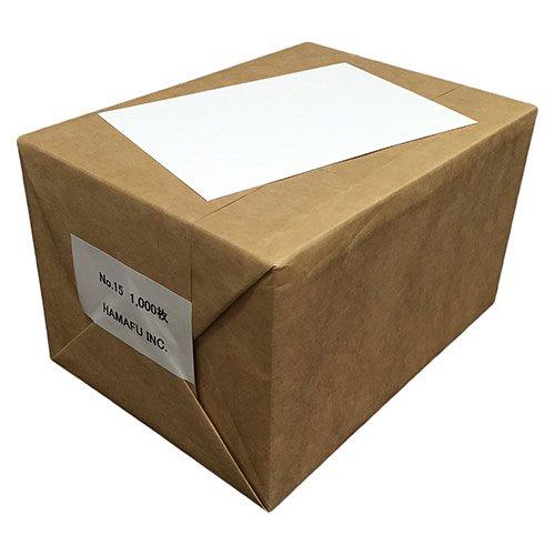 No.15  白色両面無地ハガキ厚手(100x148)  1000枚 ハムのQSLカードやDMに!しっかりとした厚みです!