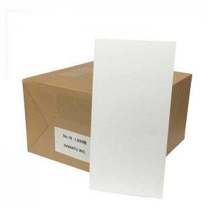 白色両面無地ハガキ厚手縦長(100x200)180kg 1000枚 情報量の多いDMに最適!