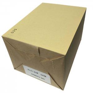 往復ハガキ仕様・両面白茶色無地ハガキ厚手 色上質超厚口 (200x148) 500枚しっかりとした厚みです!