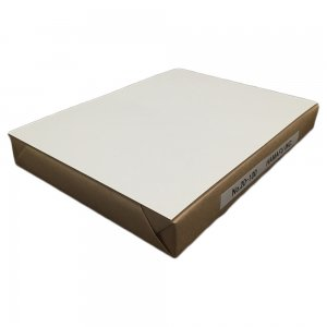 No.20-100  往復ハガキ仕様両面白色無地ハガキ厚手 国産上質紙180kg (200x148) 100枚しっかりとした厚みです!