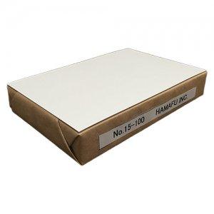 No.15-100  白色両面無地ハガキ厚手(100mmx148mm) 100枚 ハムのQSLカードやDMに!しっかりとした厚みです!