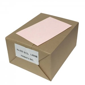 No.222  さくら色両面無地ハガキアメリカンサイズ(90x140mm) 1000枚 DMやサンクスカードに最適!