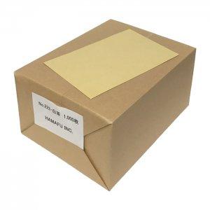 白茶色両面無地ハガキアメリカンサイズ(90x140mm) 1000枚 DMやサンクスカードに最適!