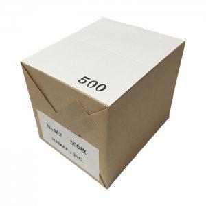No.M2  白色両面無地サンクスカード(二つ折り可)・ 国産上質紙135kg (91mmx110mm) 【500枚】