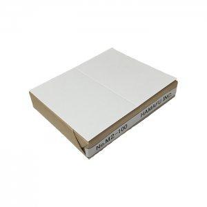 No.M2-100  白色両面無地サンクスカード(二つ折り可)・ 国産上質紙135kg (91mmx110mm) 【100枚】