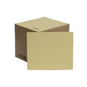No.M22  白茶色両面無地サンクスカード(二つ折り可)・ 色上質・最厚口 (91mmx110mm) 【500枚】