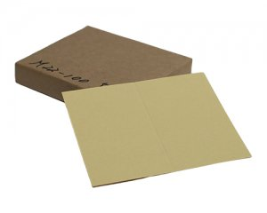 白茶色両面無地サンクスカード(二つ折り可)・ 色上質・最厚口 (91mmx110mm) 【100枚】