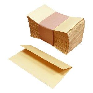 No.SF2  小さな封筒(白茶色)弊社の二つ折りサンクスカードが入ります♪【100枚】