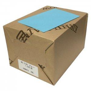 No.2180 ブルー色両面無地ハガキ (100mm x 148mm) 【超厚口】 【1,000枚】 DMやサンクスカードに最適!