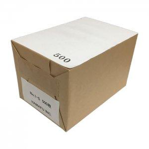 白色両面無地サンクスカード(二つ折り可)・ 国産上質紙135kg (100mmx148mm) 【500枚】