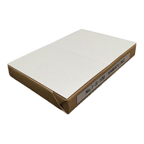 No.1S-100  白色両面無地サンクスカード(二つ折り可)・ 国産上質紙135kg (100mmx148mm) 【100枚】